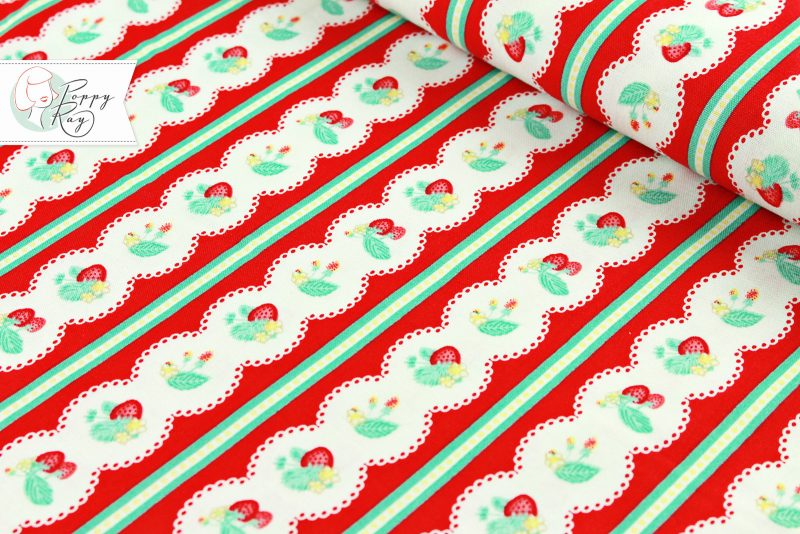 Penny Rose Erdbeere Borderprint