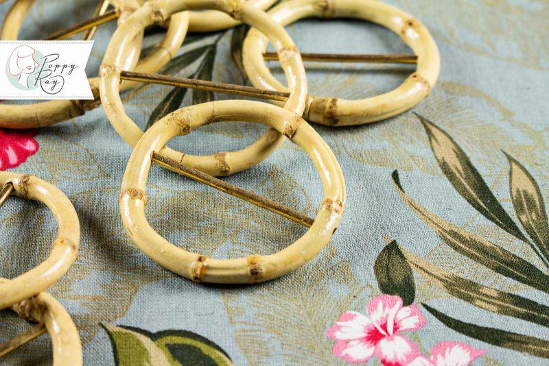 Bambus Gürtelschnalle rund