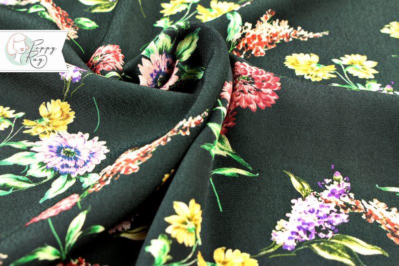 rayon vintage flowers