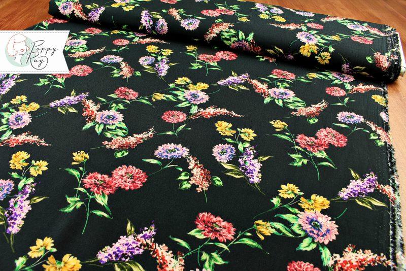 Viskose Vintage Blumen