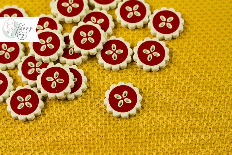 flower button vintage