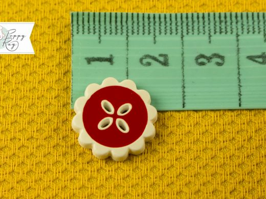 flower button vintage