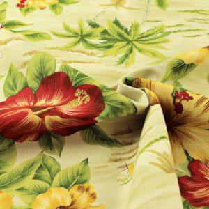 Moda Hawaii Palmen beige