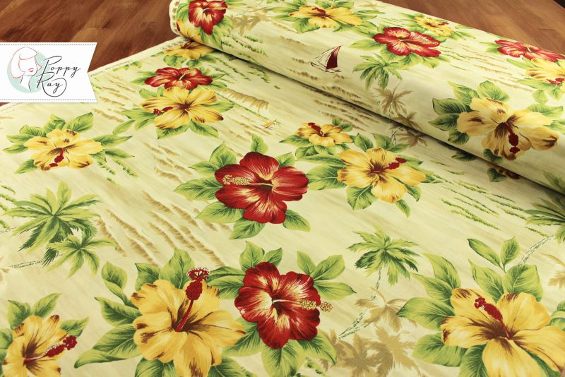 Moda Hawaii palmtrees beige