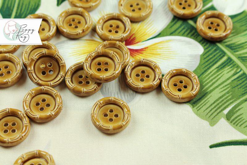 Knopf Bambus Kunststoff