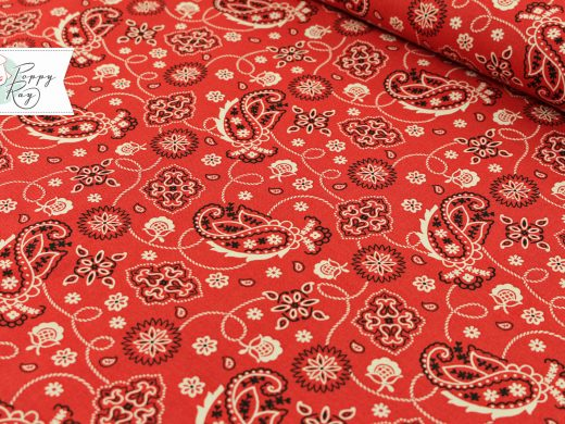 Windham Paisley red Western