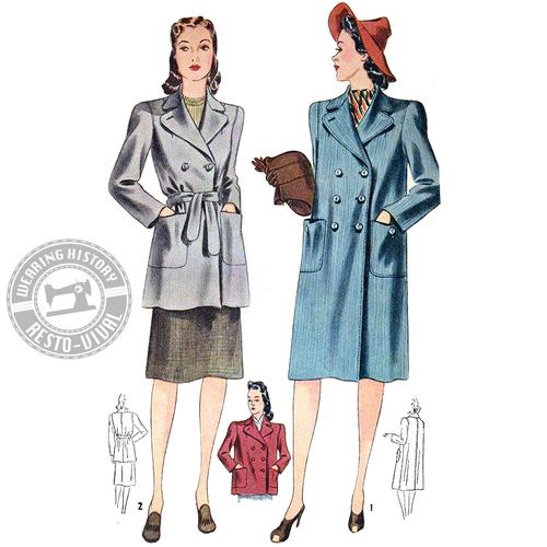 Wearing History Veronica Coat 1940s