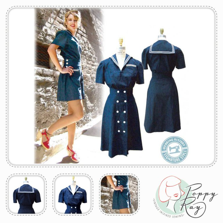 Wearing History Schnittmuster Sailor Girl Playsuit, Shorts, Bluse ...