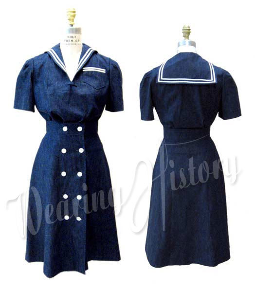 Wearing History Sailor Girl Playsuit