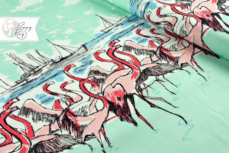 Michael Miller Flamingo Borderprint