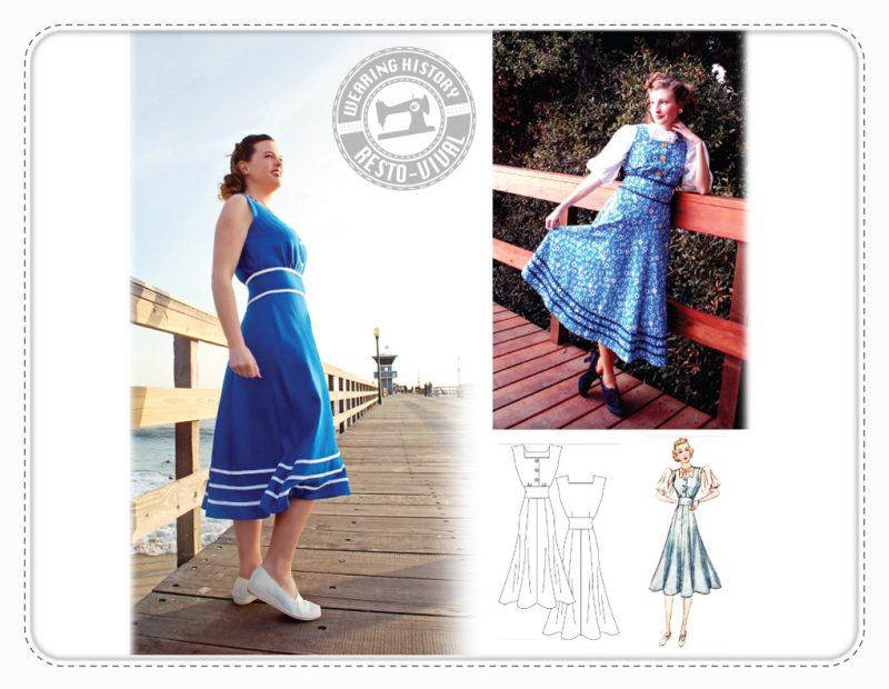 Late 1930s Jumper Dress Wearing History