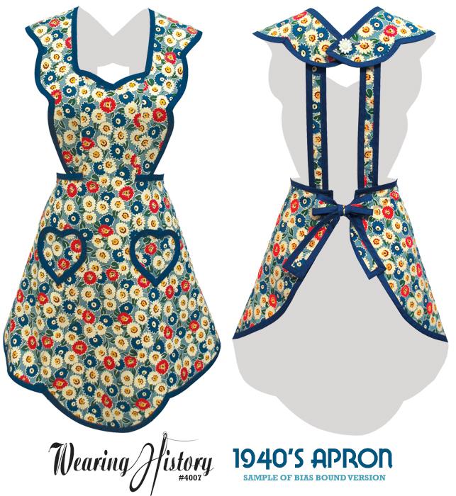 Wearing History 1940er Schürze