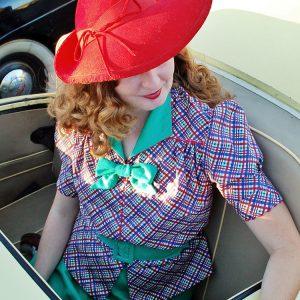 Wearing History 1930er Bluse mit Schößchen und Rock