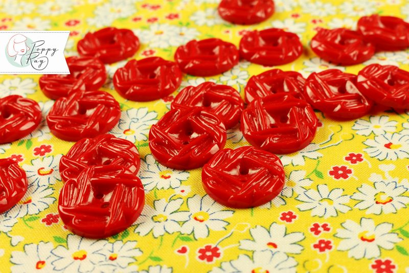 vintage button red