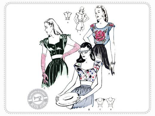 Lana Top Wearing History Schnittmuster Vintage