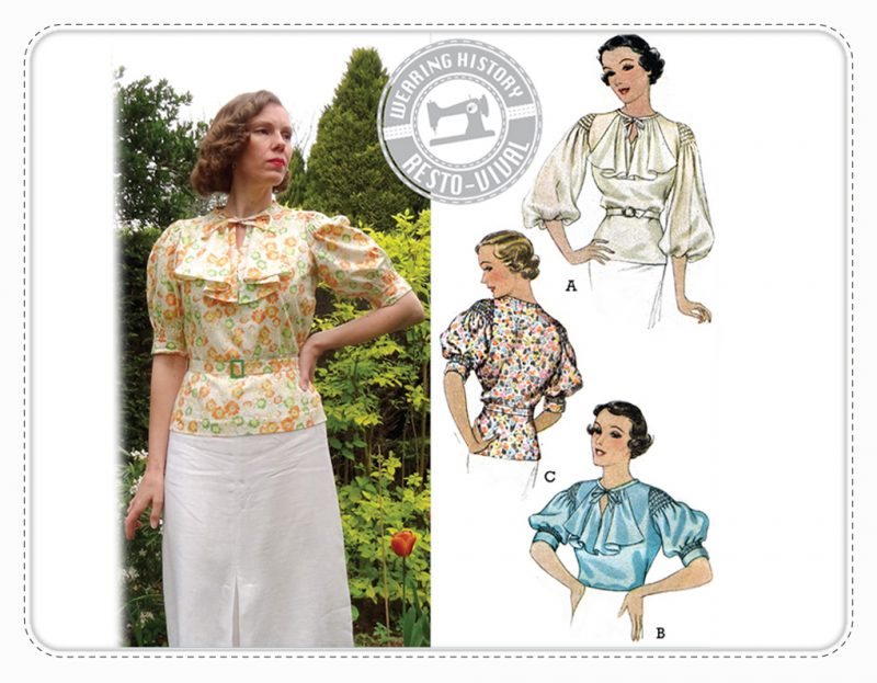 Wearing History Nanette Schnittmuster Bluse vintage