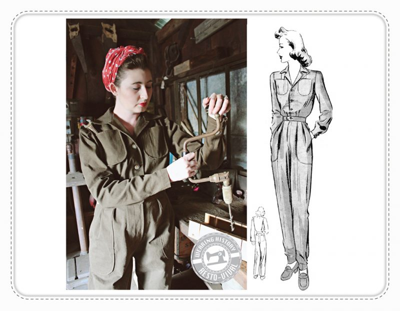 Phyllis Wearing History Overall Schnittmuster Vintage retro