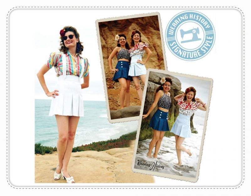 Rita Shorts Wearing History Schnittmuster Vintage Retro