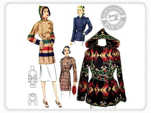 Wearing History Ahwahanee Coat Schnittmuster Mantel Vintage