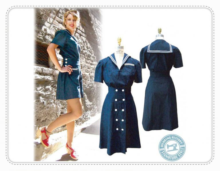 Wearing History Sailor Girl Playsuit Schnittmuster retro Vintage rockabilly