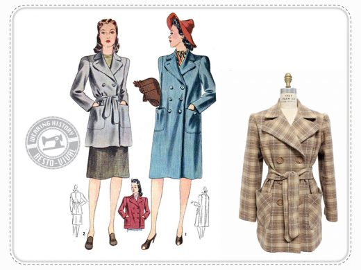 Veronica Coat Wearing History Mantel Schnittmuster vintage retro