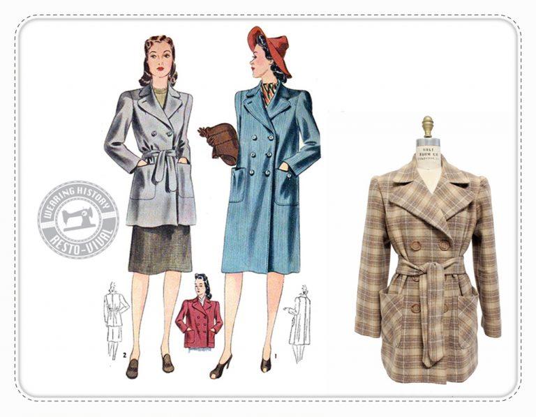 Veronica Coat Wearing History Mantel Schnittmuster vintage retro