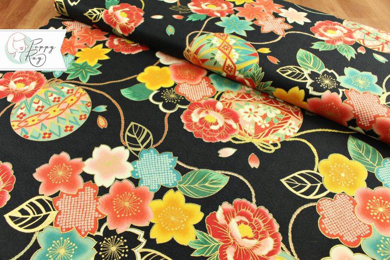 cotton japanese flowers