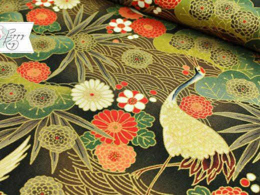 Baumwolle japanisch Kraniche