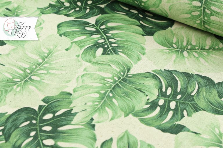 Hawaii palm leaf cotton linen