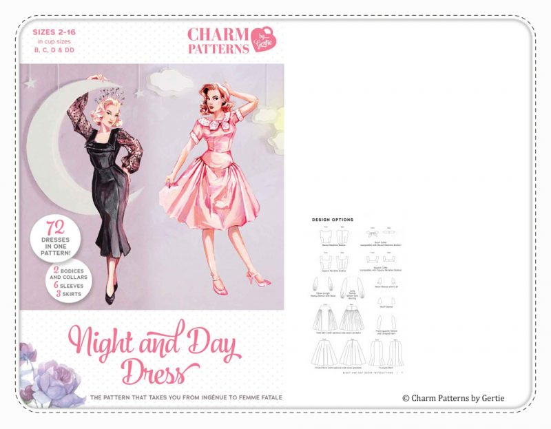 Charm Patterns by Gertie Night and Day Dress