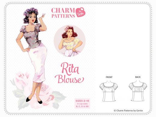 Charm Patterns by Gertie Rita Blouse
