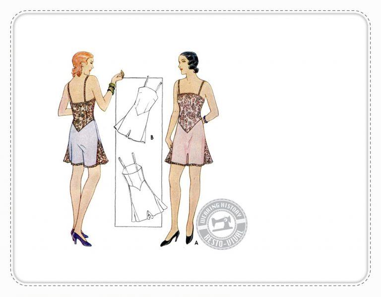 Gigi 1930er Nachthemd Wearing History Lingerie Vintage Schnittmuster