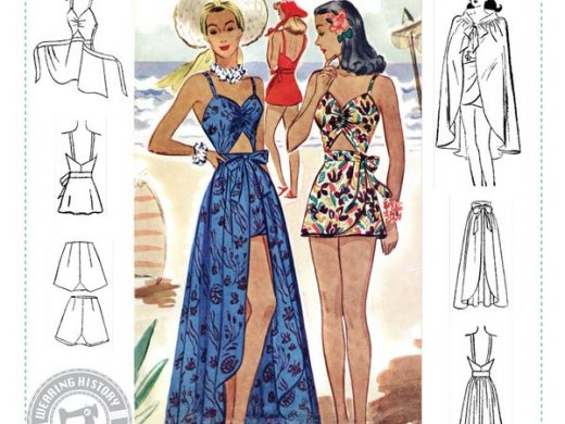 1940s Bathing Suit and Cover Up