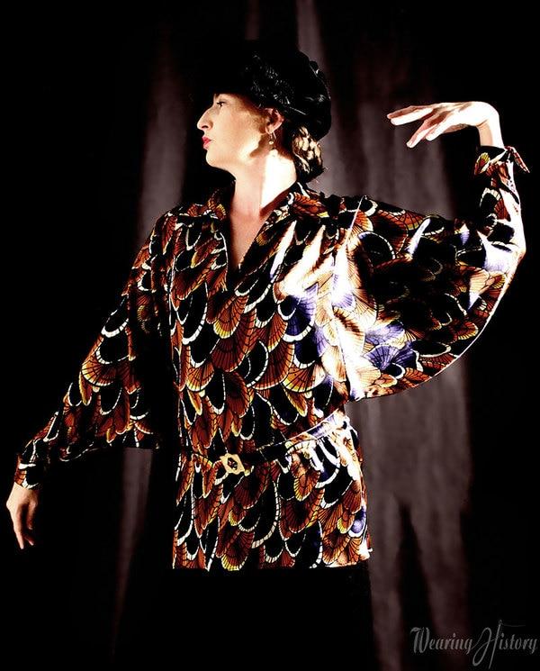Wearing History paper pattern 1920s Dolman Sleeve Blouse