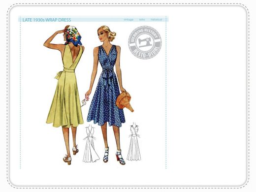 1939 Wrapdress Wearing History