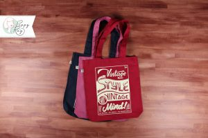 Tote Bag Vintage Style not Vintage Mind