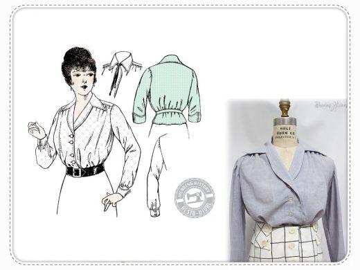 Elsie Bluse Wearing History Schnittmjuster Vintage