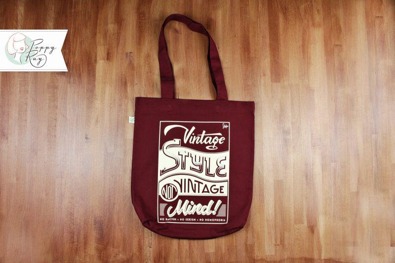 """Beutel """"Vintage Style, not Vintage Mind"""" Bio Baumwolle Tote Bag"""