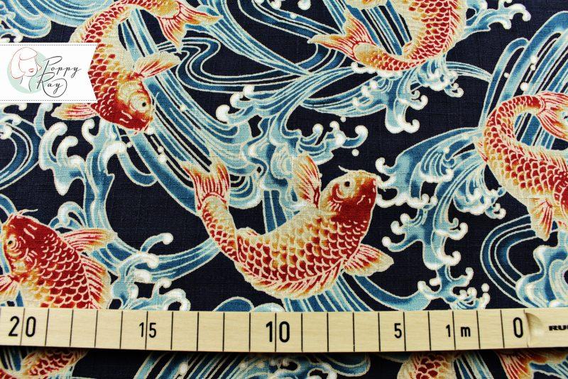 Baumwolle Koi Fische Japan