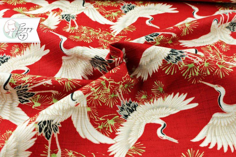 Baumwolle Kranich rot Japan