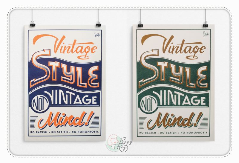 Vintage style not Vintage Mind Poster
