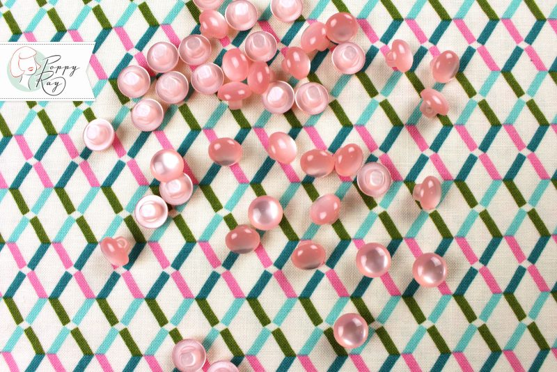Knopf Vintage rosa