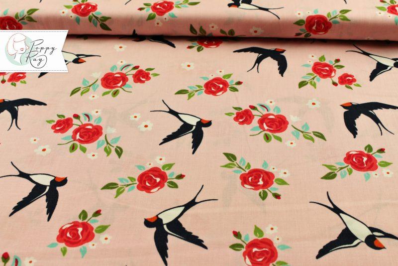 Moda Baumwolle Schwalbe rosa