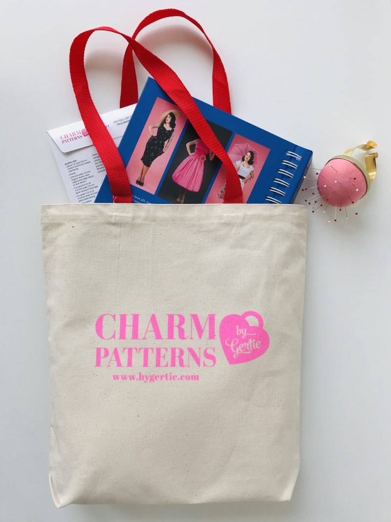Paper Doll Tote Bag Charm Patterns by Gertie