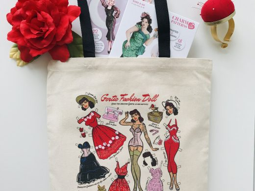 Paper Doll Tote Bag Charm Patterns by GertiePaper Doll Tote Bag Charm Patterns by Gertie
