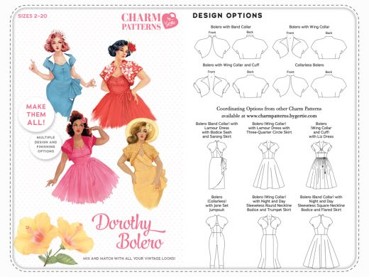 Charm Patterns by Gertie Dorothy Bolero