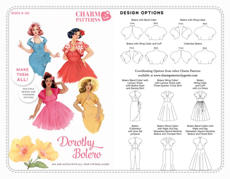 Charm Patterns by Gertie Dorothy Bolero