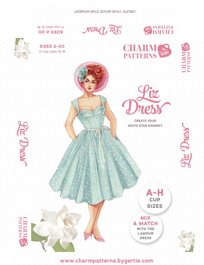 Charm Patterns by Gertie Liz Dress