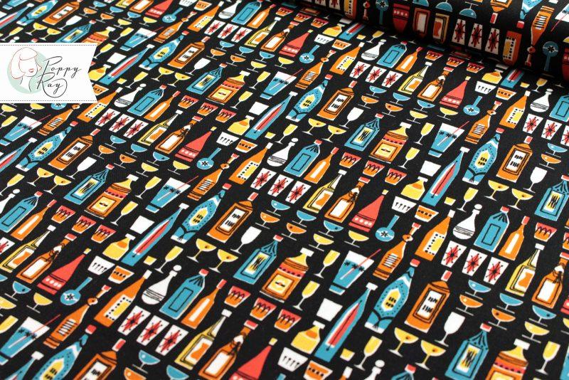 Michael Miller Kitschy Cocktails Mid century 50s