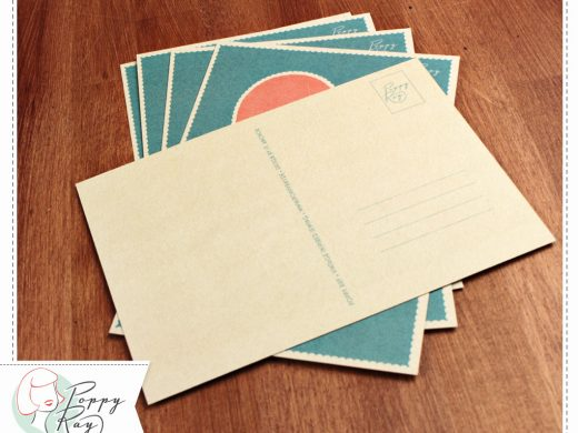 Postkarte Thank you